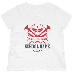Plus Marching Band School Tee