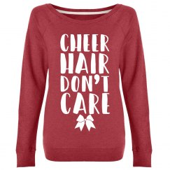 Cheer Hair Don't Care Crew
