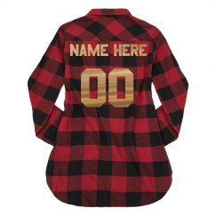 Custom Metallic Sports Flannel