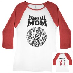 BASEBALL MOM TBALL SHIRT