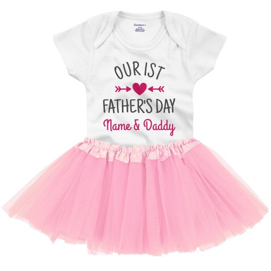 3bbd29b9f Our First Father's Day Custom Name Infant Onesie with Tutu