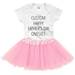 Custom Happy Father's Day Onesies