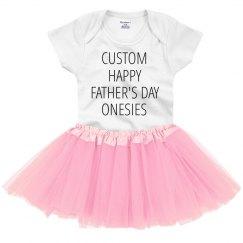 Custom Happy Father's Day Onesies