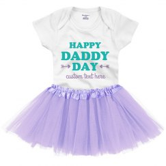 Daddy Day Baby Tutu Onesie