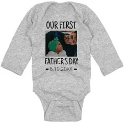 First Framed Father's Day Onesie