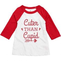 Cuter Than Cupid Toddler Raglan