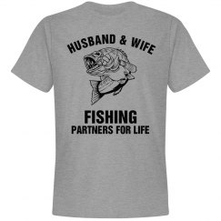 Husband and wife fishing partners for life