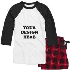Unisex Raglan Pajama Set