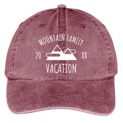 Mountain Family Vacation Hat