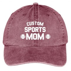 Customizable Sports Mom Hat