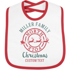Custom Family Christmas Baby Bib
