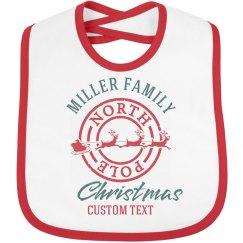 Custom Family Christmas Baby Bib