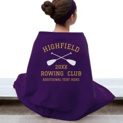 Custom Rowing Club Blanket