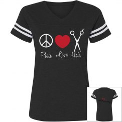 Peace, Love, Hair Tee