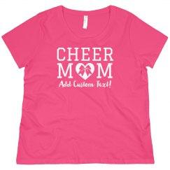 Curvy Cheer Mom Custom Tee