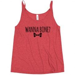 Wanna Bone Halloween Tank for Women