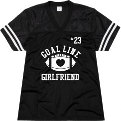 Cute Football Girlfriend Jersey With Custom Number