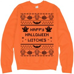 Ugly Sweater Orange Bat