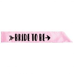 Bride To Be Custom Sash
