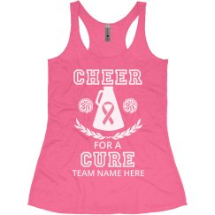 Cheer For A Cure Custom Team Tank