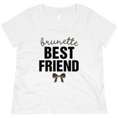 Curvy Brunette Best Friend Tee