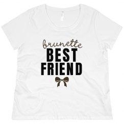 Curvy Brunette Best Friend Tee