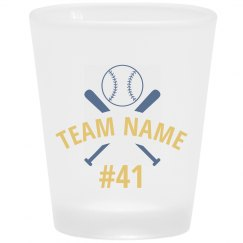 Baseball Team Fan Custom Shot Glass