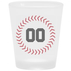 Custom Player Number Shot Glass