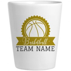 Basketball Shot Glass Custom Name