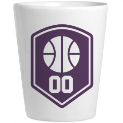 Custom Basketball Number Shot Glass