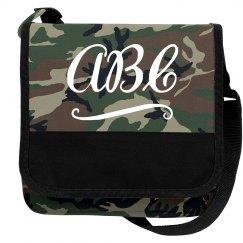 Cute Custom Initials School Bag