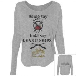 Guns & Ships long sleeve shirt