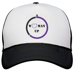 WOMAN UP TRUCKER HAT