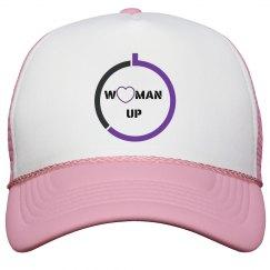 WOMAN UP TRUCKER HAT