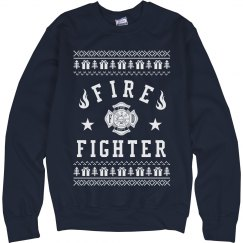 Ugly Sweater For Fire Fighters
