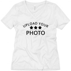Custom Upload V-Neck Tee
