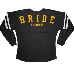 Custom Metallic Bride Jersey