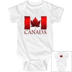 Canada Flag Souvenir Baby Bodysuit