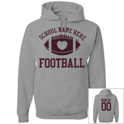 Inexpensive Budget Priced Football Mom Hoodie With Text