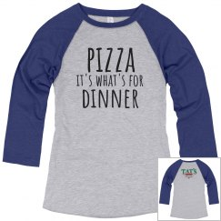 Pizza Dinner 3/4 sleeves blue