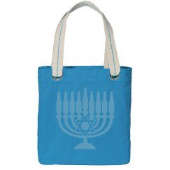 Light Blue Menorah