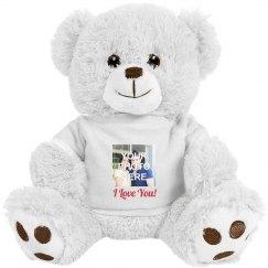 Custom Photo I Love You Teddy Bear