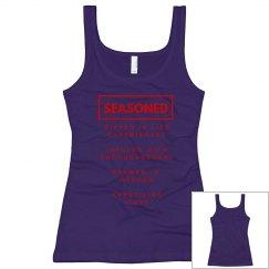 Seasoned Woman Tank Black/Red