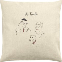"""""""La Famille"""" Throw Pillow Cover"""