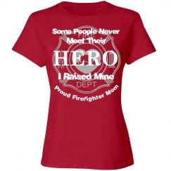 Proud firefighter mom