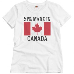51% made in canada