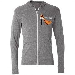Basketball Girlfriend - Lightweight zip hoodie