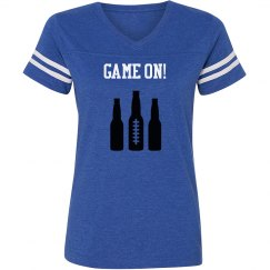 Game On! - Blue vintage stripe T-shirt