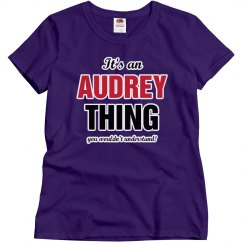 It's an Audrey thing