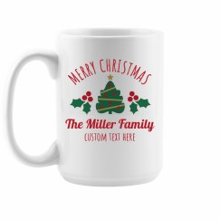 Custom Family Christmas Mugs